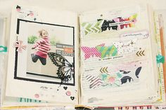 minimalScrap: happy little moments | altered book | video of my book!
