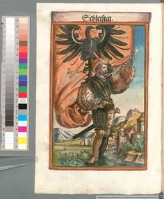 Colour Plate: German State Banners:  Schlettstadt, Imperial City