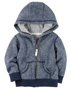 Baby Boy French Terry Zip-Front Hoodie from Carters.com. Shop clothing & accessories from a trusted name in kids, toddlers, and baby clothes.