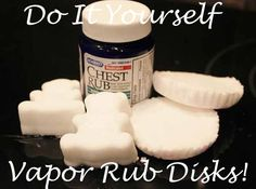 I used to love those vapor rub disks that Vicks used to make a while back. I haven't been able to find them in years! Luckily, I came across an awesome Pin on Pinterest…Homemade Vicks S…