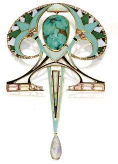 Art Nouveau pendant/brooch by:  Fouquet