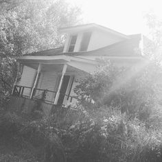 Sunlight on an abandoned house. Hauntingly beautiful.