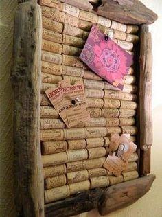 pinboard bulletin board wine cork craft