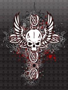 Skull On Cross Logos Wallpaper To Your Mobile Phone Download Free Skull Wallpaper Skull And Bones