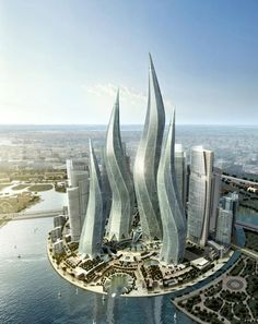 Dubai Towers - Dubai  How beautiful! Not yet constructed-gives me time to plan my trip!