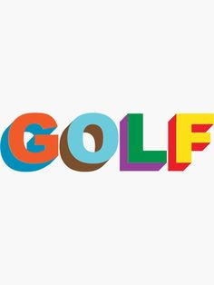 """""""golf wang"""" Sticker by livdawn Bedroom Wall Collage, Photo Wall Collage, Picture Wall, Golf Tyler, Logo Fleur, Tyler The Creator Wallpaper, Dorm Posters, Art Room Posters, Indie Room"""