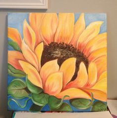 My sunflower! #oilpainting #sunflower