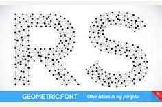 Geometric type font by kanva777 on Creative Market