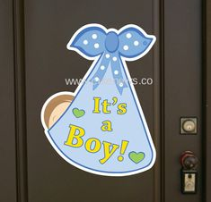 Welcome Home Decorations, Baby Shower Decorations For Boys, Outdoor Baby, Indoor Outdoor, Baby Door Signs, It's A Boy Announcement, Welcome Home Baby, Baby Door Hangers, Baby Keepsake