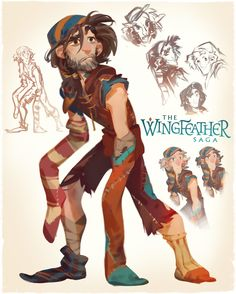 As Production Designer for the Wingfeather Saga pilot, I've also designed the principle cast of ragamuffin little lovies and I, excited to be allowed to share a little look behind the scenes of each
