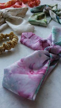 jarisse / Hodvábna šatka do vlasov+gumička- Womens Scarves, Scarfs, Slippers, Dance Shoes, Hand Painted, Handmade, Dancing Shoes, Scarves, Sneakers
