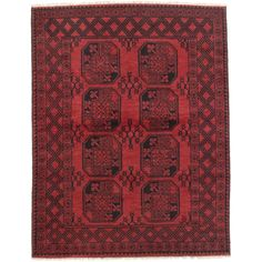 Ecarpetgallery Hand-knotted Khal Mohammadi Red Wool Rug
