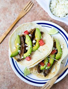 Smoky Portobello Tacos. Don't forget the vegetarians when grilling!