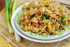 Easy Chicken Fried Rice #glutenfree | iowagirleats.com
