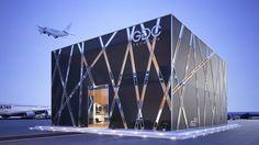 Dubai airshow pavilion for GDC technics Mall Facade, Retail Facade, Shop Facade, Office Building Architecture, Building Facade, Facade Architecture, Facade Design, Exterior Design, Brewery Design