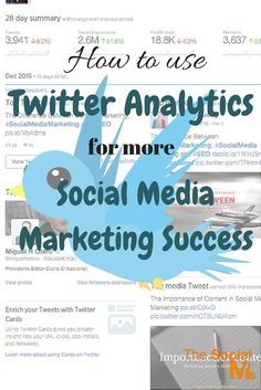 Success on Twitter is not always straight forward. Twitter Analytics help to decide if you are on the right track and what you can and should change.