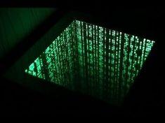 The Matrix infinity mirror effect .столик с подсве. The Matrix infinity m. Mirror Box, Led Mirror, Mirror With Lights, Mirrors, Matrix, Infinity Mirror Table, Infinity Spiegel, Infinite Mirror, Mirror Illusion