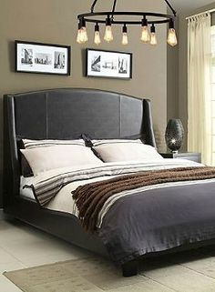 Enjoy masculine and refined style in your master suite with the Beverly Sable Bed.
