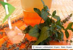Levendulás-mentás citromfűszörp Moscow Mule Mugs, Syrup, Stuffed Peppers, Vegetables, Drinks, Tableware, Plants, Food, Mint