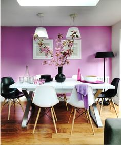 Likeness Of Purple Dining Room Ideas To Attract Your Family Membersu0027  Attention