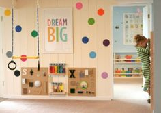DIY playroom for kids. Amazing ideas on this post.