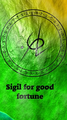 Wolf Of Antimony Occultism — Sigil for good fortune