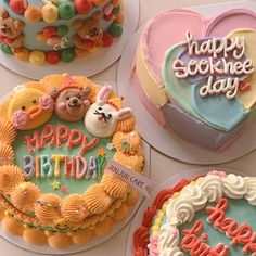 Pretty Birthday Cakes, Pretty Cakes, Beautiful Cakes, Amazing Cakes, Cake Birthday, Korean Cake, Pastel Cakes, Frog Cakes, Cute Baking