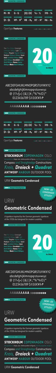 URW Geometric Condensed Thin. Fonts. $19.00