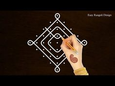 """Thank You for watching Music Credits:""""Royalty Free Music from Bensound"""" All the content including hand Image published on this channel is our own creative wo. Rangoli Designs Diwali, Simple Rangoli, Traditional Rangoli, Hand Images, Beautiful Rangoli Designs, Royalty Free Music, Mehandi Designs, Dots, Make It Yourself"""