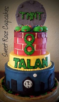 TMNT cake made by me