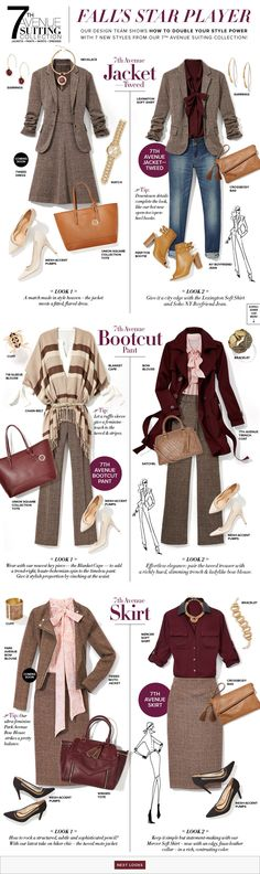 Love the tweed dress and the bottom right look. Love the tweed dress and the bottom right look. Style Work, Mode Style, Style Me, Office Outfits, Fall Outfits, Casual Outfits, Cute Outfits, How To Have Style, Work Attire