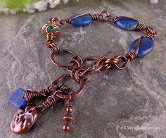 Lapis Lazuli Tibetan Bead and Hand Wrought by PattiVanderbloemen, $42.00