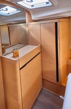 Sun Odyssey 410 │ Sun Odyssey of │ Boat Sailboat Jeanneau Storage 12361 Guest Cabin, Deck Plans, Sailboat, Boats, Architecture Design, Sun, Interior Design, Storage, Sailing Boat