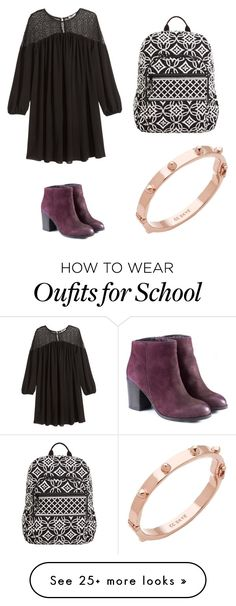"""""""Date/school 2015-fall/winter"""" by chonlaurenm on Polyvore featuring H&M, Vera Bradley and CC SKYE"""