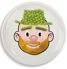 Kid's dinner plate with face design