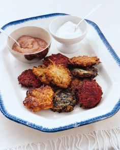 Parsnip Latkes | Martha Stewart - Specially made for Hanukkah, latkes are potato pancakes that are fried in oil in recognition of the ancient lamps that held only enough oil for one day but miraculously burned for eight. Adding parsnips also celebrates the past, when latkes were made with vegetables, cheeses, or fruits. #latkes #passover #seder