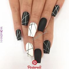 Nail art Christmas - the festive spirit on the nails. Over 70 creative ideas and tutorials - My Nails Cute Acrylic Nails, Fun Nails, Pretty Nails, White Nail Designs, Nail Art Designs, Nails Design, Nagellack Design, French Tip Nails, Nagel Gel