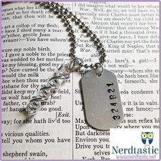Barcode DNA Dog Tag Necklace Cosima Orphan Black by shopNerdtastic