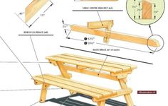 DIY Bedroom Projects | Diy Folding Picnic Table Best Woodworking Projects | Placeiu