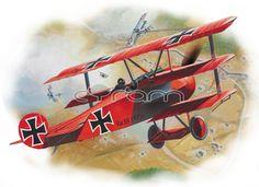 Dreidecker Fokker Dr1 Jagdflugzeug von Freiherr Manfred Albrecht von Richthofen (Der Rote Baron).