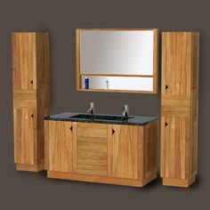 teak and oak Bathroom furniture| the Zeze collection.