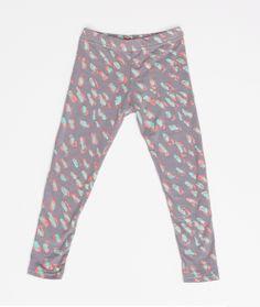 Cheetah Leggings in Mint and Pink