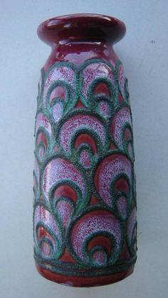Strehla Keramik Vase DDR 1960er Jahre