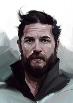 punchingart:  Tom Hardy Digital Painting By Viktor Miller-Gausa    More portrait here.