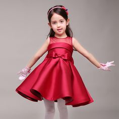 41.70$  Buy here - http://aliim7.shopchina.info/1/go.php?t=32598663713 - New Korean Girls Kids Girls Birthday Princess Evening Gown Presided Party Dress Pink Green Red 41.70$ #buyininternet