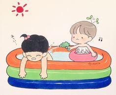 水浴びの季節です #チャンベク #chanbaek #찬백 #fanart