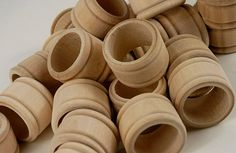 12 Unfinished Raw Wood Napkin Rings, Bulk Order Of Lovely Natural Wood Napkin…