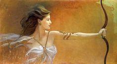 Artemis: Goddess of Hunting & the Moon (Brenda Burke) http://www.brendaburkefineart.blogspot.com/