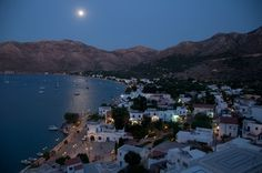 Livadia and the moon Greek Islands, More Photos, Greece, Moon, Colours, River, Outdoor, Greek Isles, Greece Country