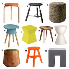 Whether you need extra seating for guests or you just need a place to rest, it seems we all have a need for stools. Here are 10 modern stools we love.